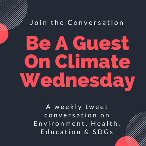 Be A Guest on Climate Wednesday